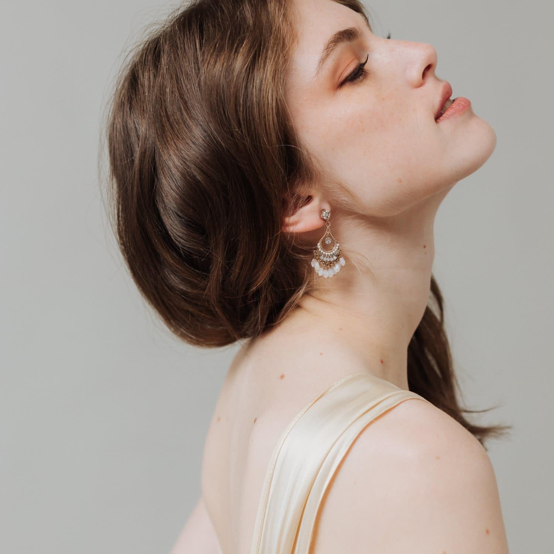 Coco Beaded Chandelier Earrings