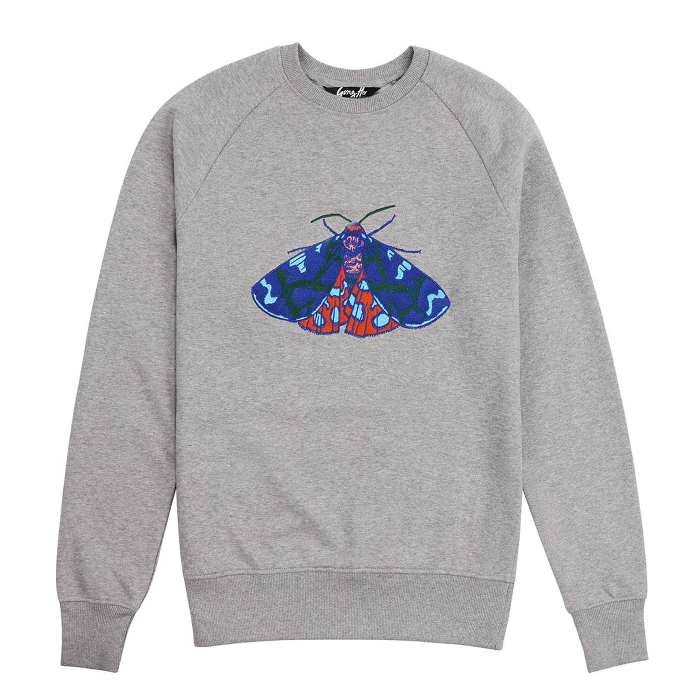 3f739eab Embroidered Tiger Moth Sweatshirt by Gung Ho