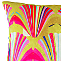 Limeyellow Shell Deco Velvet Cushion image