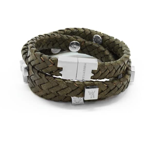TISSUVILLE Brio Bracelet Olive Silver