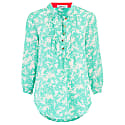 Delphine Top Green Flower Splat Print image