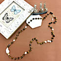 Tiger Eyes Stones With Baroque And Freshwater Pearls Multi-Way Necklace image