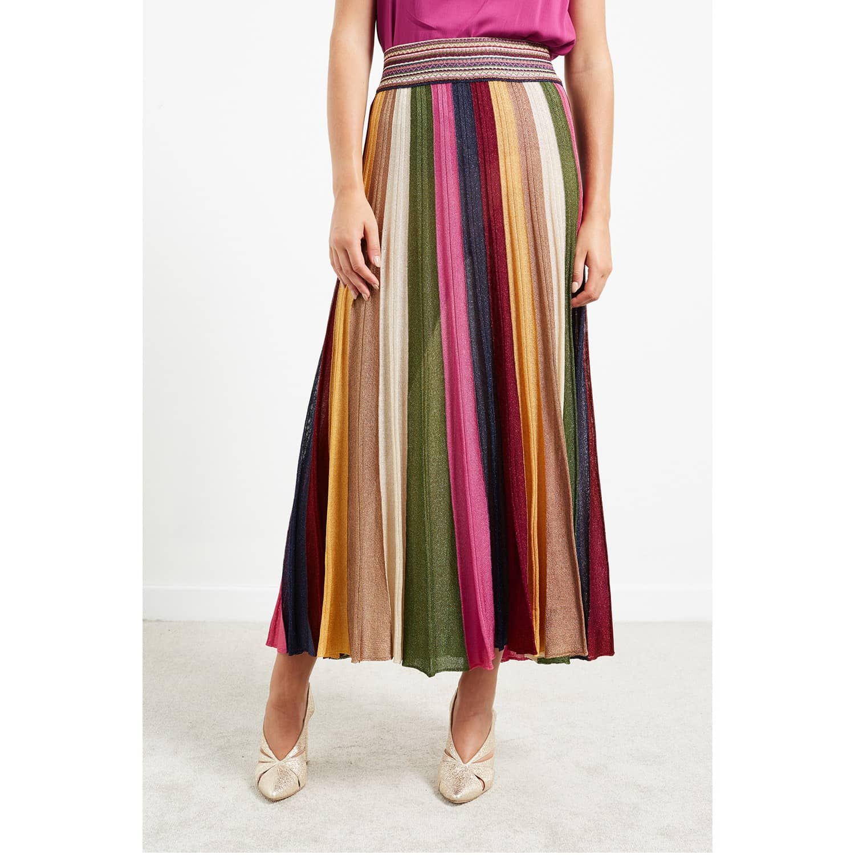 e5f33673a WtR Stripe Lurex Knit Pleated Maxi Skirt | WtR | Wolf & Badger