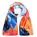 Expression Of Water Silk Twill Long Scarf image