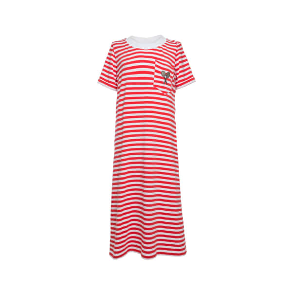 TOMCSANYI Evert Striped T-shirt Dress