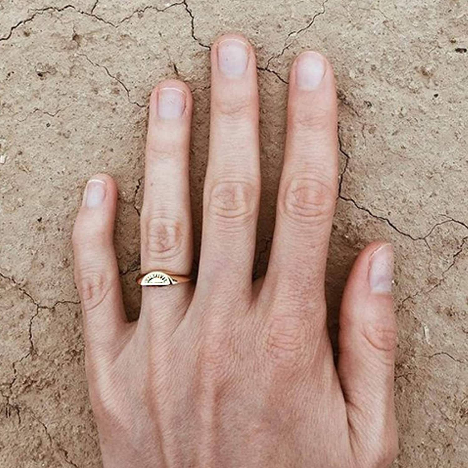 Solid Gold Moon Signet Ring | No 13 | Wolf & Badger