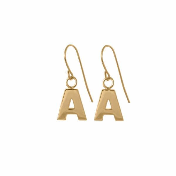 EDGE ONLY Letter Earrings in Gold