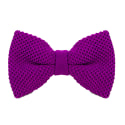 Purple Solid Silk Knitted Bow Tie  image