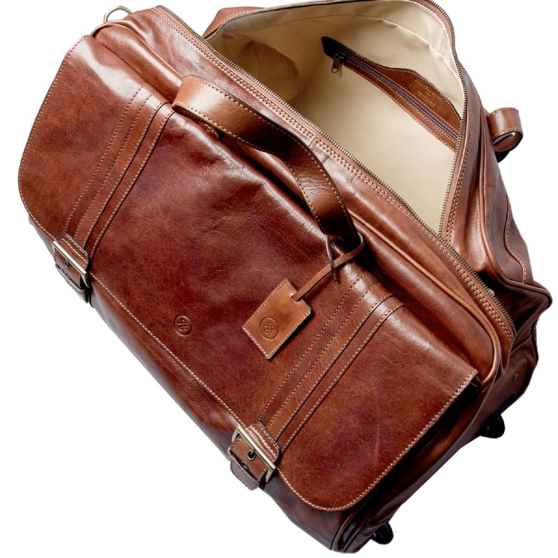 344a7f409a Luxury Italian Leather Men s Duffle Bag Dino M Night Black image