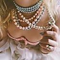 A Pearly Girl Choker Blue image