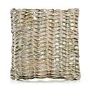 Gold Wide Stitch Cushion image