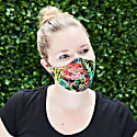 Women's Silk & Cotton Reversible Face Mask - Electric Jungle image