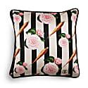 Carrots & Roses Silk & Velvet Cushion image