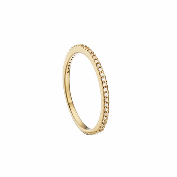 LILY & ROO Gold Diamond Style Stacking Ring