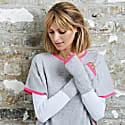 Cashmere Wrist Warmers Grey & Neon Pink image