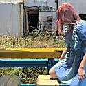 Livi Ruffle Puff Sleeve Dress - Solid Indigo image