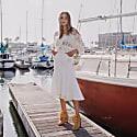 Sundown White Handmade Knit Sweater image