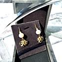 Freshwater Pearls Flower Blossom Dangle Earrings image