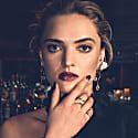 Raw Diamonds & 18Ct Gold Drop Earrings image