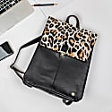 Pony Hair Leather Yale Backpack In Leopard Print image