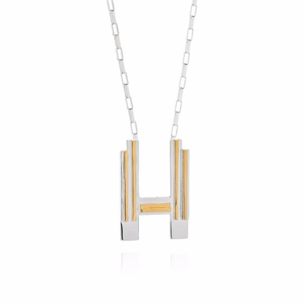 Saxony H Initial Necklace