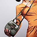 Grace Kale Green Top Handle Handbag With Interchangeable Kale Braided Handle image