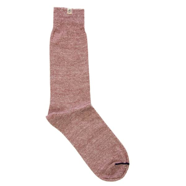40 COLORI Brown Melange Linen Socks