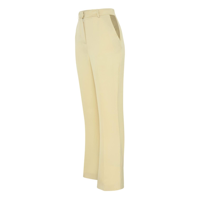 b8d5f0e3cc Cream Wide Leg Trousers by Zoe Corsellis