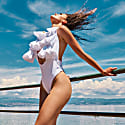 Aura One-Piece Swimsuit In White image