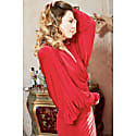 Lea Red Plunge Front and Back Batwing Midi Dress image