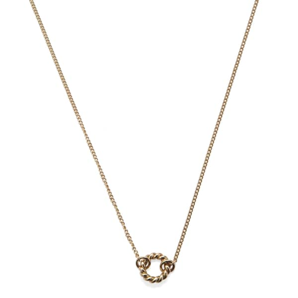ISABEL LENNSE XS Twisted Circle Gold Necklace