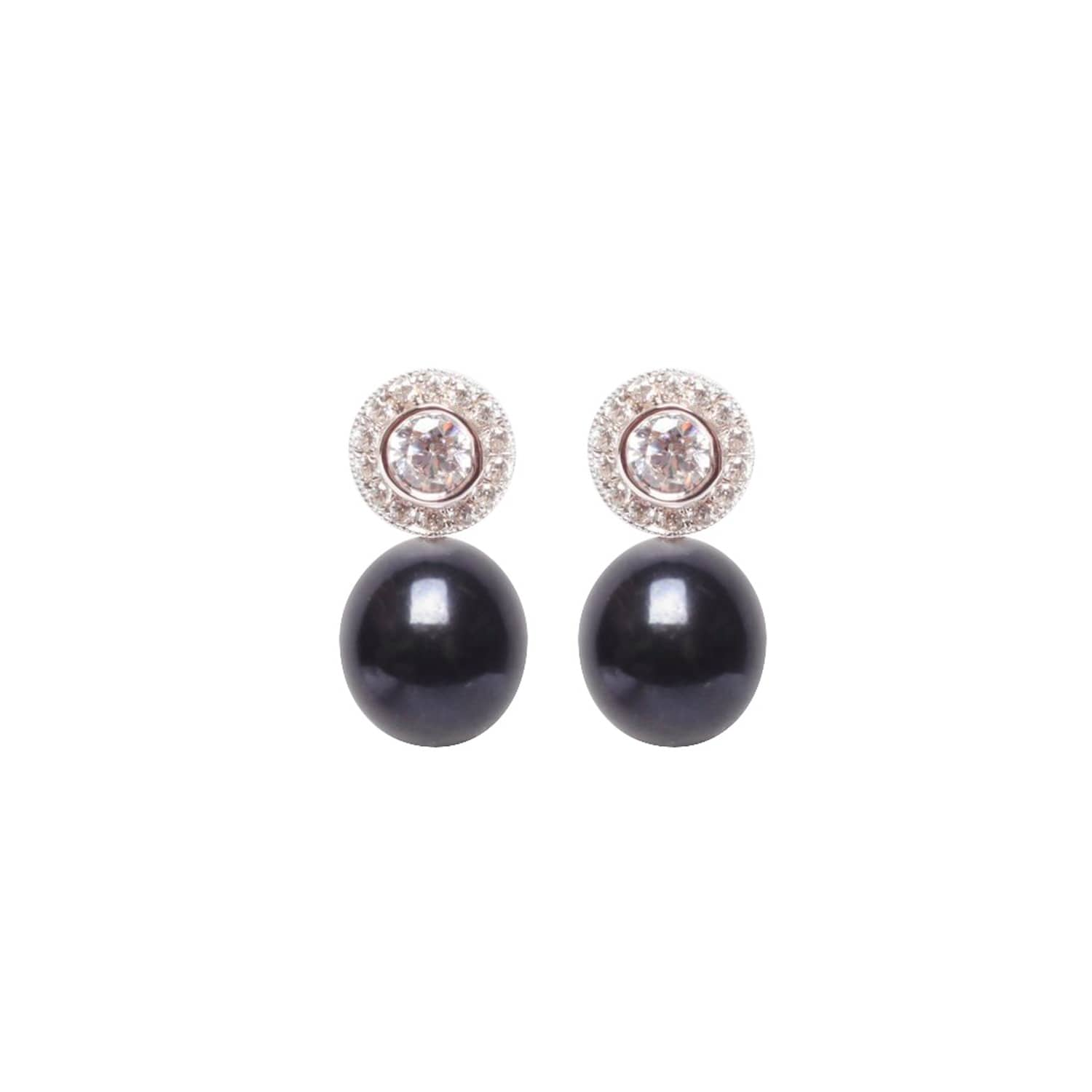 pearls ora black us halo earrings badger image round pearl cz wolf brilliant
