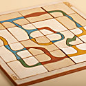 Natural Dyed Wooden Puzzle Game image
