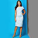 Olympia Dress Pale Blue Metallic Jacquard image