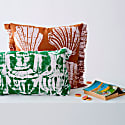 Taverna Pea Green Cushion image