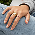 22Ct Gold Vermeil Extra Wide Flat Cigar Band Ring image