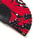 Red Papillon Hand Fan image