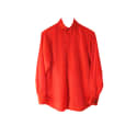 Red Faux Suede Shirt image