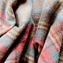 Recycled Wool Blanket In Stewart Dress Antique Tartan image