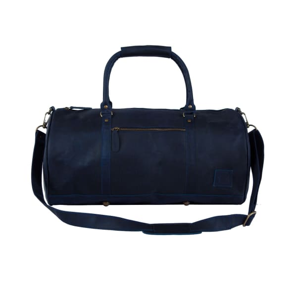 MAHI LEATHER Leather Weekend Classic Duffle Bag In Navy