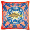 Regale Coral Large Silk Cushion image