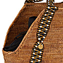 Poso Shopper Large - Natural With Black & Gold image