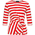 Luna Wrap Top Red Striped image