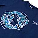 Blue Lobster Embroidered Sweatshirt Dress image