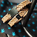 Rugged Brown Leather Wrap Tarmac Bracelet With Black Studs image