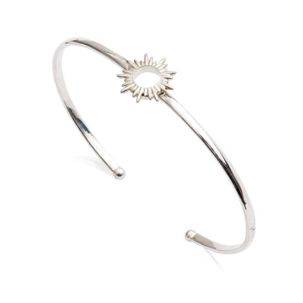 Sunrays Bangle In Silver from Wolf & Badger