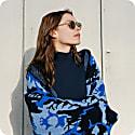 The Guestlist Collection Aspen Blanket - Blue & Black image