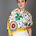 Silk Scarf In Yellow With Autumn Impression image