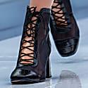 Manhattan - Black Croco Leather Block Heel Bootie image