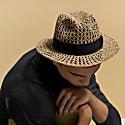 Men's Straw Fedora Hat image